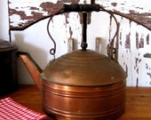 Reserve for Dale - Copper Kettle Tea Pot - French Country Farmhouse