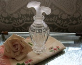 Vintage Clear Cut Glass Perfume Bottle with Stopper