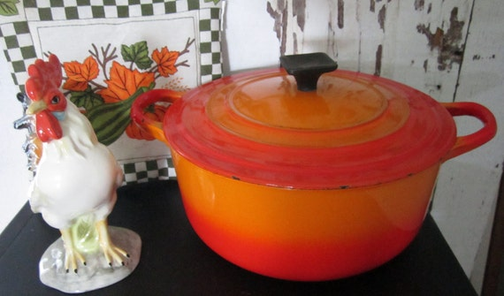 Le Creuset Flame Cast Iron Dutch Oven with Lid