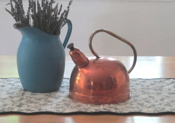 Copper Kettle - Tea Pot - French Country Decor