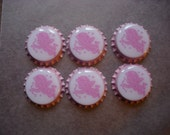 Pink cupid Valentine love theme finished sealed bottlecaps