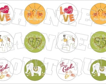Made to Match Gymboree M2MG Batik Summer bottlecap image sheet