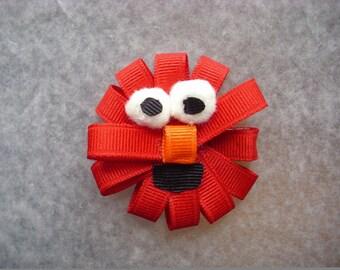 Elmo hair clippie