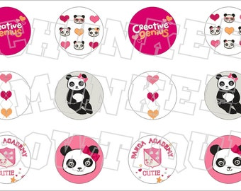 Made to Match Gymboree M2MG Panda Academy bottlecap image sheet