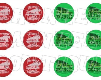 Griswold Family Christmas themed bottlecap image sheet