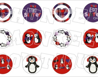 Made to Match Gymboree M2MG Winter Penguin bottlecap image sheet