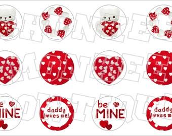 Made to Match Gymboree M2MG Valentine's Day 2012 bottlecap image sheet