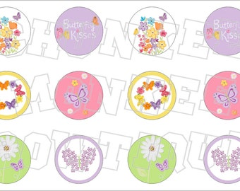 Made to Match Gymboree M2MG Butterfly Blossoms bottlecap image sheet