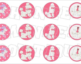 Made to Match Gymboree M2MG Polka Dot Poodle bottlecap image sheet