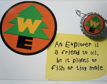 Wilderness Explorer pin badge inspired by the movie UP