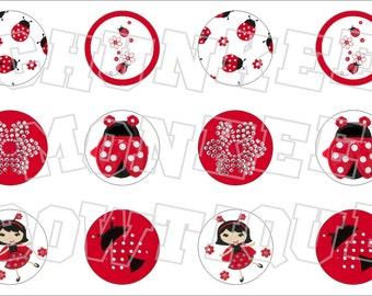 Made to Match Gymboree M2MG Polka Dot Ladybug bottlecap image sheet