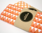 Hand Screen Printed Geometric Triangle Tea Towel