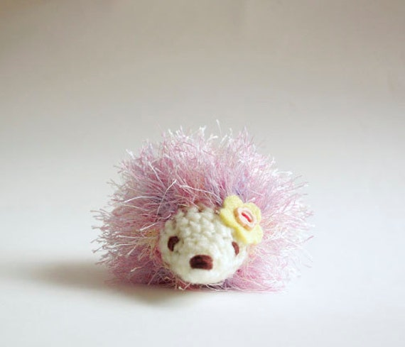 Amigurumi With Eyelash Yarn : Amigurumi Little Hedgehog by WereRabbit2006 on Etsy