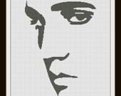 Cross Stitch Pattern Elvis Silhouette Handmade Black and White pdf