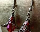Downton Abbey Ruby Earrings