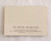 Printable Wedding Invitation & RSVP Postcard - Woodland Chic / Chevron Leaf I