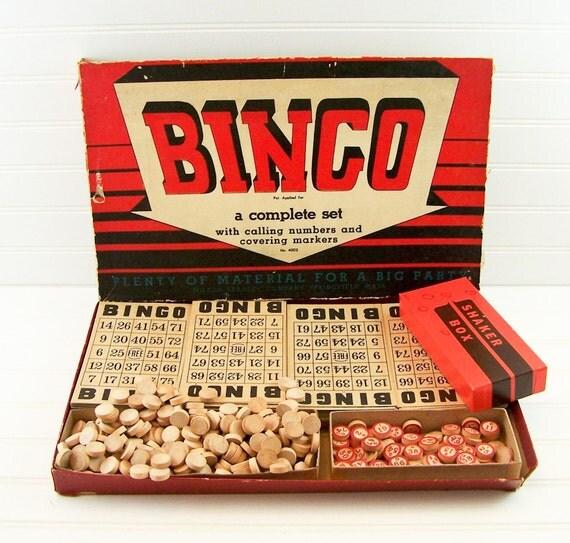 1939 Milton Bradley Bingo Complete Set
