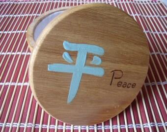 Wood Box small Japanese Peace drawings