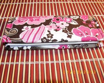 Check Book Cover - Sakura Flower (Cherry Blossom)