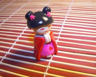 Miniature Geisha Figurine