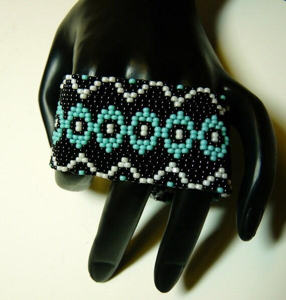 Beadwoven Cuff - Bracelet