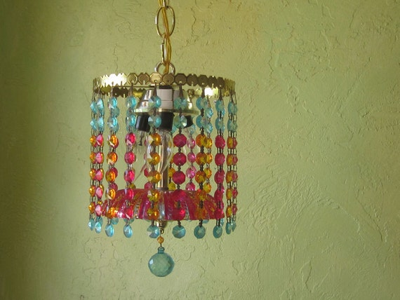 RESERVED, First Installment - Chandelier Light, Petite Gypsy Crystal, One of a Kind