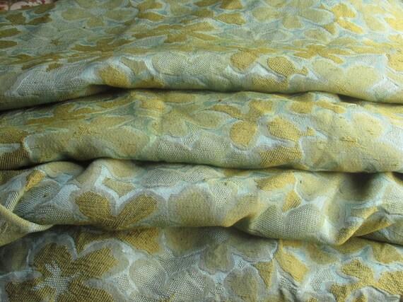 Vintage Bedspread, Hollywood Regency Nubby Silk Blend