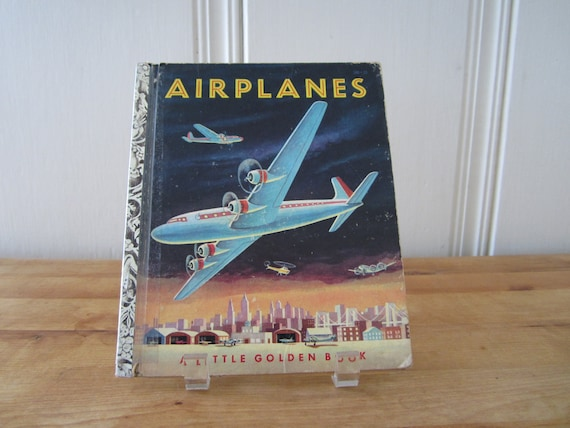 A Vintage LIttle Golden Book - Airplanes