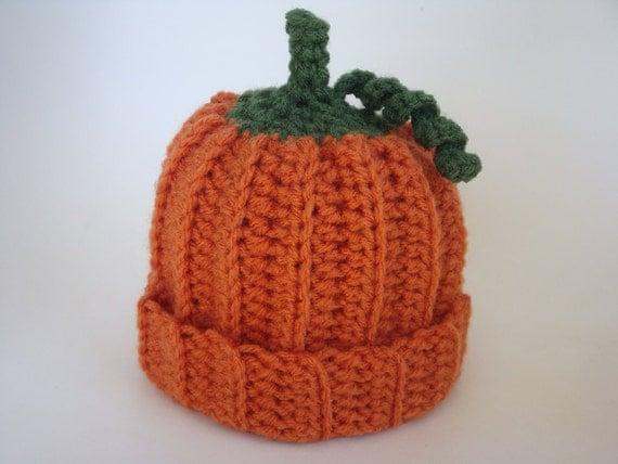 Baby Pumpkin Hat - Made to Order