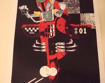 Star Wars Boba Fett poster print