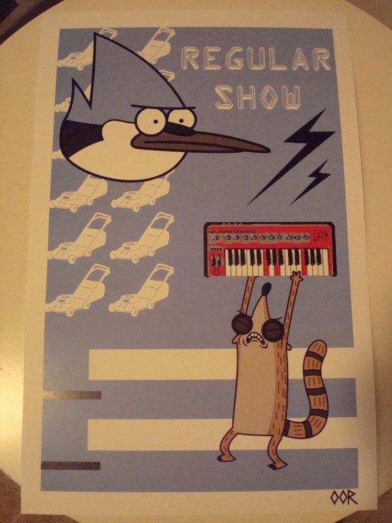 Regular Show poster print
