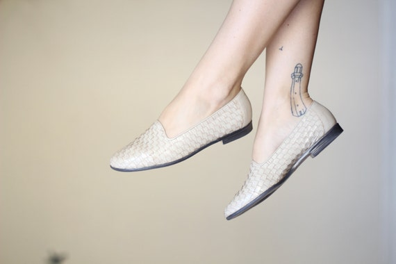 woven cream patent leather flats (8)