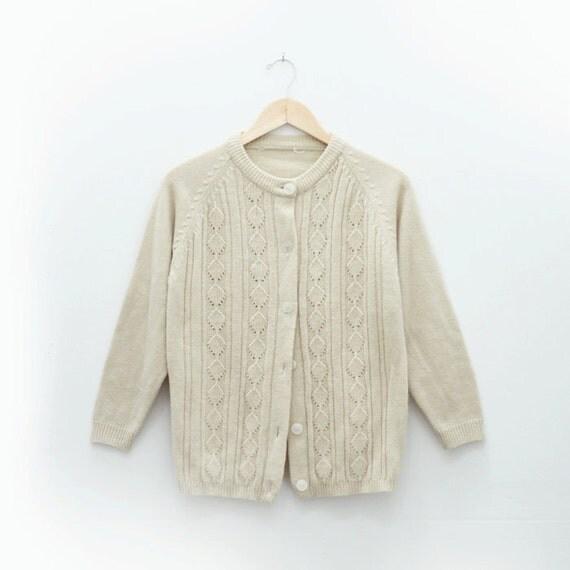 Cream granny cardigan (M)