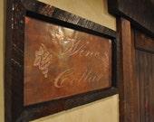 Wine Cellar copper engraving, Wine room decor, wine room, copper sign, copper sign, copper anniversary, bar sign, wine sign, napa decor