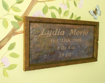 Personalized Baby Gift Copper Engraving