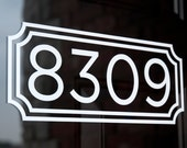 Address with Border 5 (Small) - Vinyl Decal