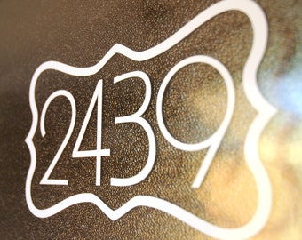 Address with Border 1 (Large) - Vinyl Decal