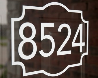 Address with Border 3 (Small) - Vinyl Decal