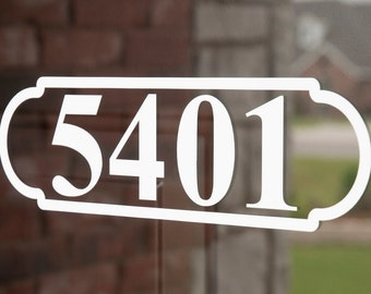 Address with Border 4 (Large) - Vinyl Decal