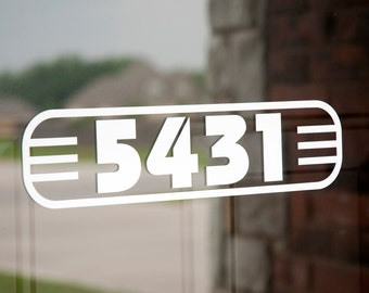 Address with Border 8 (Large) - Vinyl Decal