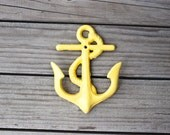 Bright Yellow Anchor Wall Hook