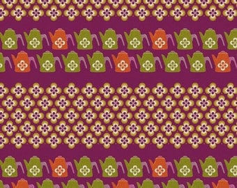 Ruby Star Shining - Water Can purple by Melody Miller from Kokka Fabrics