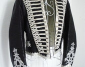 Vintage Hussar military drummer boy jacket Steampunk coat 6 10 8 S Leather Sgt Pepper Beatles