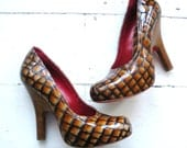 Vivienne Westwood leather hidden platform elevator pumps courts shoes 4 37 6.5 7 RED soles - shmooozin