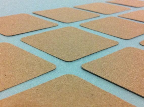 KRAFT die cut scrapbook labels Brown Kraft Paper - 24 Pack