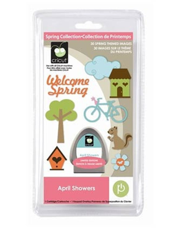 APRIL SHOWERS - Cricut Cartridge NEW Spring Seasonal Die Cut Phrases and Shapes