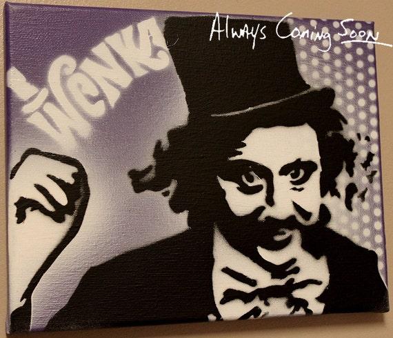 Gene Wilder as Willy Wonka Pop Art on Canvas