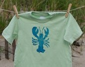 holo baby lobster tee, 24 months, green & blue