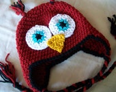 SALE- Crocheted Owl Hat- You choose size and colors- Check out shop announcement for sale details