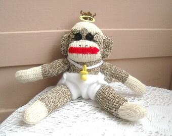 Tiny the Baby Sock Monkey
